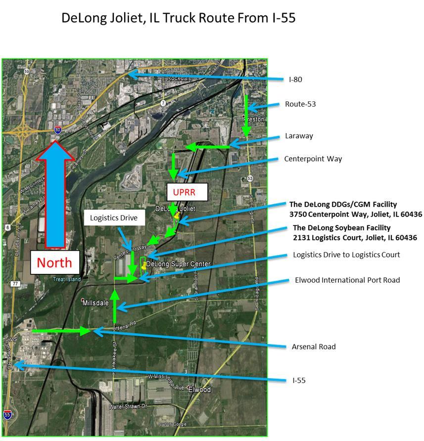 LocationsJOLIET IL NORTH The DeLong Co Inc - Joliet map